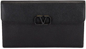 Valentino Large Flat Pouch in Black | FWRD