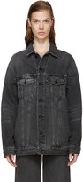 Alexander Wang Grey Denim Dazed Jacket