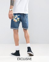 Reclaimed Vintage Revived Levis Shorts With Floral Pocket Patch