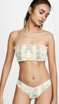 Montce Swim Ruffle Bandeau Bikini Top