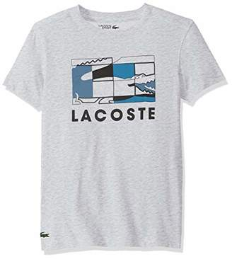 Lacoste Men's Sport Short Sleeve Graphic Squares TEE