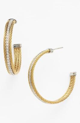 Alor Cable Diamond Hoop Earrings - 0.56 ctw
