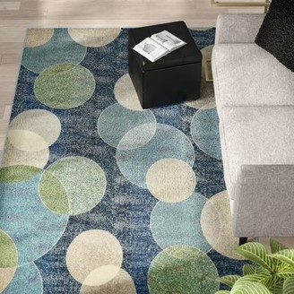 Blue Area Ebern Designs Alabama Navy Rug Ebern Designs Rug Size: Rectangle 4' x 6'