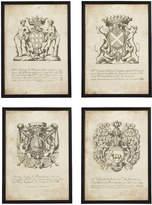 OKA Antique Chevalier Coat of Arms Framed Prints, Set of Four