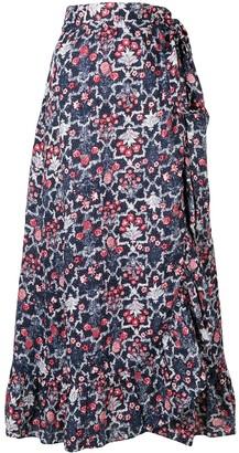 Etoile Isabel Marant Floral Print Full Skirt