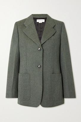Victoria Beckham Wool Blazer - Forest green