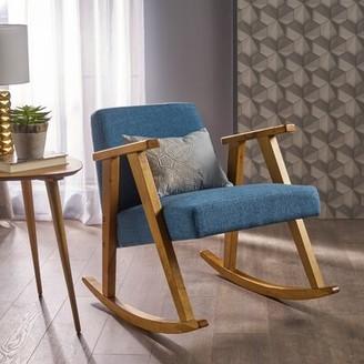 Brayden Studio Welliver Rocking Chair Fabric: Muted Blue