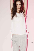 LnA Lace Up Tank in White