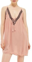 Topshop Women's Embroidered Cover-Up Slipdress