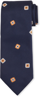 Brioni Men's Fancy Boxes Silk Tie