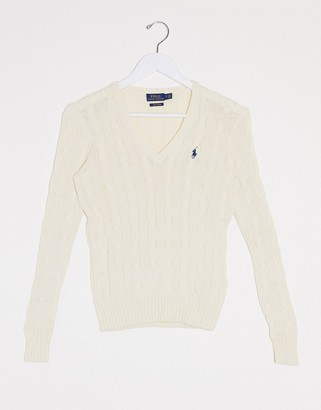 Polo Ralph Lauren cable v neck knit sweater