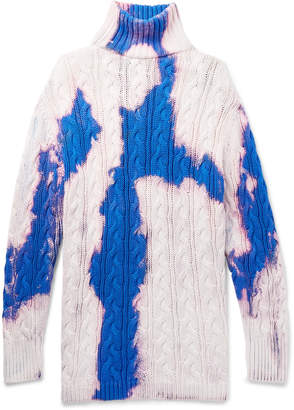 Balenciaga Oversized Cable-Knit Cotton Rollneck Sweater