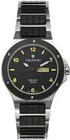 Croton Mens Black Ceramic and Stainless Steel Watch