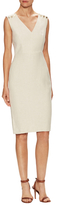 Max Mara Fido Linen Buttoned Sheath Dress