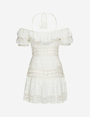 Free People Cruel Intentions embroidered woven mini dress