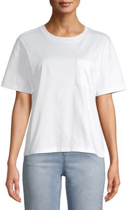 Time and Tru Women's Pima Cotton Boyfriend T-shirt