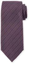Tom Ford Zigzag Herringbone Silk Tie