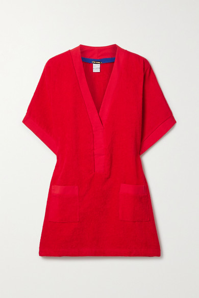 Tooshie Positano Cotton-terry Mini Dress - Red
