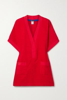 Tooshie Positano Cotton-terry Mini Dress - Red
