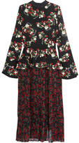 Mother of Pearl Andres Floral-print Silk Dress - Black