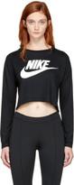 Nike Black Long Sleeve Nsw Essential Crop T-shirt