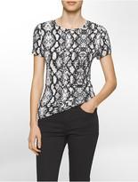 Calvin Klein Liquid Jersey Modern Snake T-Shirt