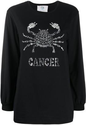 Alberta Ferretti Cancer crystal-embellished jumper