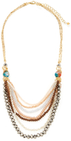 Leslie Danzis Beaded Bib Necklace