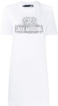 Love Moschino embellished logo T-shirt dress