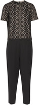 No.21 No. 21 Broderie anglaise cotton and ponte jumpsuit