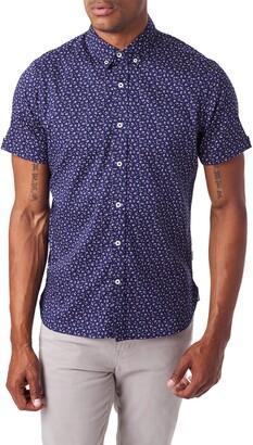 7 Diamonds Spring Splendor Slim Fit Short Sleeve Button-Down Sport Shirt