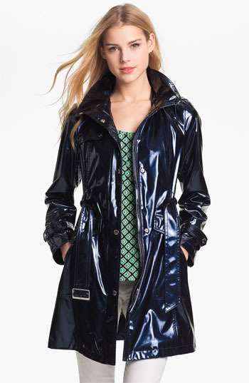 Ellen Tracy Pearlized Trench Coat (Petite) (Online Only)