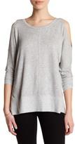 Bobeau Cold Shoulder Knit Shirt (Petite)