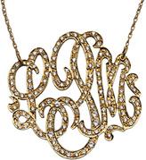 West Avenue Jewelry Diamond Medium Monogram Necklace
