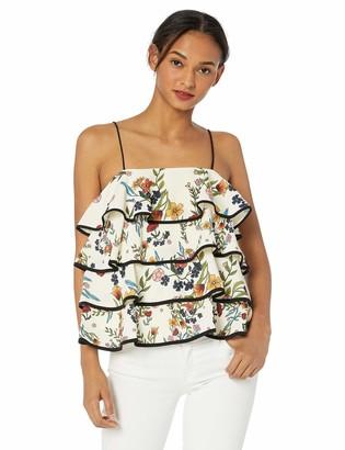 C/Meo Women's Entitle Tiered Ruffle Cami Sleeveless Tank Top