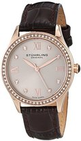 Stuhrling Original Women's 431.05 Vogue Swiss Quartz Rose Tone Brown Watch