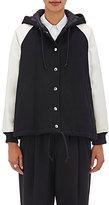 Comme des Garcons Women's Wool-Blend Hooded Varsity Jacket-BLACK