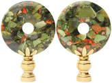 One Kings Lane Vintage Chrysoprase & Jasper Lamp Finials