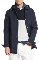 Brunello Cucinelli Double-Face Hooded Parka, Cobalt