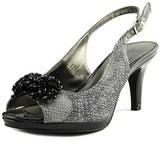 Karen Scott Briant Women Peep-toe Synthetic Gray Slingback Heel.