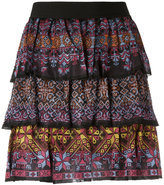 Cecilia Prado ruffled mini skirt - women - Viscose - P
