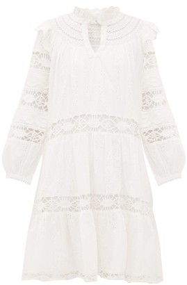 Sea Lea Broderie-anglaise Cotton Dress - Womens - White