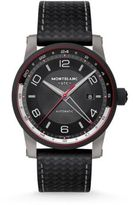 Montblanc TimeWalker DLC Coated Stainless Steel & Leather Automatic Strap Watch