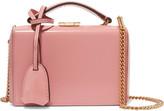 Mark Cross Grace Mini Glossed-leather Shoulder Bag - Antique rose