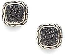 John Hardy Women's Classic Chain Black Sapphire & Sterling Silver Small Square Earrings