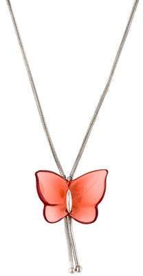 Baccarat Crystal Butterfly Pendant Necklace