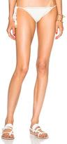 She Made Me Savarna Tie Side Bikini Bottom in White.