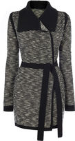 Karen Millen Stripe Tweed Cardi - Black & White