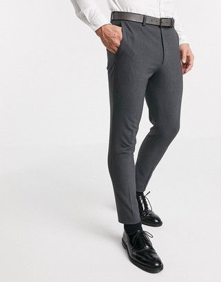 ASOS DESIGN super skinny suit trousers in four way stretch in charcoal