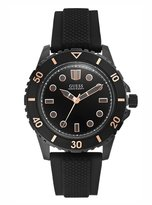 GUESS Black and Rose Gold-Tone Swarthy Watch